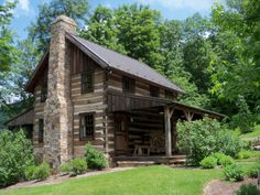 """Our finished """"Bath County Cabin"""" project - the perfect log home retreat. Work by: Country Mountain Homes www.countrymountainhomes.com"""