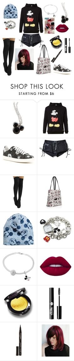 """""""Mickey mouse"""" by loa-chan ❤ liked on Polyvore featuring Disney, MOA Master of Arts, Current Mood, Kate Spade, Lime Crime, Charlotte Russe and Smith & Cult"""