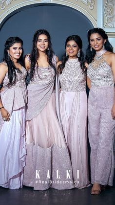 #Episode5 #RealBridesmaidsofKalki Are you not blessed with the best girlfriends in the world? Well, one of our #KALKIBrides has been fixed, and we planned on this one big 'Bride & Bestie' photoshoot for her and her #squad before she bids goodbye to singlehood.Also we got you a list of all sorts of 'must-have' picture ideas - from the cheesy ones to the most boujee ones. Indian Dresses, Indian Outfits, Bridesmaids, Bridesmaid Dresses, Wedding Dresses, Party Wear Dresses, Picture Ideas, Besties, Girlfriends
