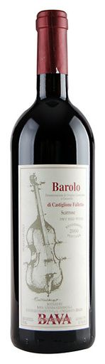 In stock - 65,– € 2000 Bava Contrabasso, Barolo, red dry , Italy - 90pt Wine of brilliant garnet colour with brick-red reflexion. Aroma is matured, complex with tones of dried roses and wallflowers enriched by secondary aromas of wood and pepper. In its full, rounded and greatly structured taste are dominant soft tones of dried plums, sour cherries and hint of liquorice.