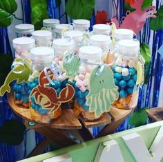 Easy Breezy Parties Fiona A's Birthday / Under the Sea - Amaya's Under The Sea Party at Catch My Party Baby Boy Birthday, 2nd Birthday, Birthday Parties, Birthday Ideas, Candy Party Favors, Party Treats, Ariel Party Food, Ocean Party, Under The Sea Party