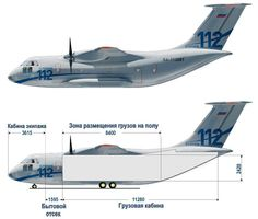 The development of the Ilyushin Il-112 cargo plane, carrying capacity 6 tons, which will replace the Antonov An-26