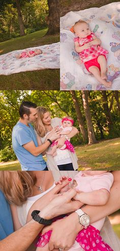 3 Month Photos | Baby Girl Photo Session | Deanne Mroz Photography | Flashback Photoshop Actions