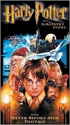 Collectible Like New VHS Tape - Harry Potter / And The Sorcerer's Stone (Original Recording/Priceless Tape) - Copyright 2002 by Warner Bros Home Video - Manufactured by Warner Bros Home Video - Ships