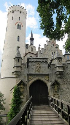 Drawbridge to the Schloss Lichtenstein , Germany