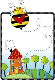 Imprimir imagenes infantiles abejas