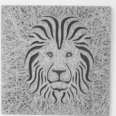 Lion Face String Art by PawtiqueCollars on Etsy