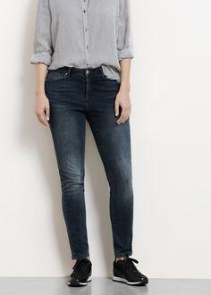 Super slim-fit alexandra jeans - Plus sizes Grey Jeans, Slim Fit, Mango, Skinny Jeans, Plus Size, Fitness, Fashion, Cotton, Grey Jeans Outfit