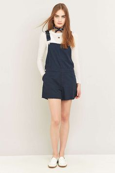 Cheap Monday Cut Bib Blue Denim Dungarees