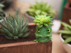 OOAK art toy Baby Succulent Spirit by Furrykami-creatures.deviantart.com on @DeviantArt