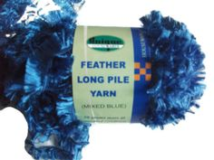 FREE P&P! 10 x 50g Feather Long Pile Yarn. Knitting, Crochet, Destash. Supples £8.50