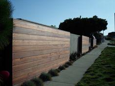 modern wooden fence