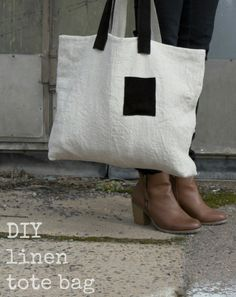 DYI Tutorial for a Linen Fabric Bag by Ada & Ina  www.linenfabrics.co.uk