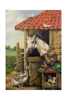 Farmyard Friends Giclee Print by Carl Donner at AllPosters.com