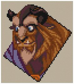 PDF Cross Stitch pattern 0023.Beast Beauty and by PDFcrossstitch