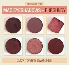 Happy Swatch Saturday! Today, I'm bringing you photos and swatches of six shades of MAC's more burgundy-ish eyeshadows! Any favorites? Are any of these m