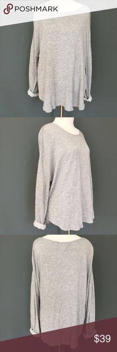 """Cotton On Grey Oversized Sweatshirt - Medium Cotton On Grey Sweatshirt Medium Long Sleeve Oversized Sweater Lounge Slouchy M  Incredibly soft and cozy! Great for fall and lounging. A little oversized. You can also cuff/roll up the sleeves.  Excellent Condition!  Size: Medium (Runs big) Bust (flat): 27"""" Sleeve length from armpit: 16.5"""" Length: 26""""  Cotton blend. Fabric tag has been cut out.  Check out my Trixy Xchange Store for more sweaters & sweatshirts! :) Cotton On Tops Sweatshirts…"""