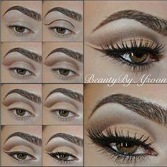 nude coloured eye makeup