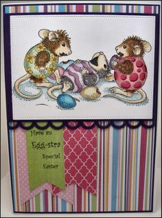 Mason Jar Cards : Easter 015 House Mouse - You Crack me Up