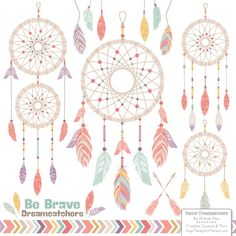 free feathers & dream catchers clip art | Design, Clip art and ...