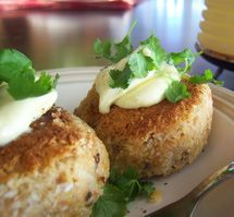 Gluten-Free Salmon Croquettes  - make them mini bite-sized, and bake instead of frying