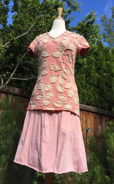 Summery Tee ~   I've been saving a yard of this gorgeous, hand-dyed madder fabric for just the right project. When I put together thi...