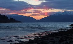 Sunset over Ardgour Mountains - Scotland in the Gloaming