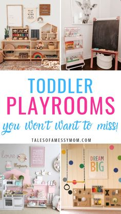 Toddler playroom ideas for boys, for girls, and for small spaces. Tons of DIY and Montessori ideas for at home fun for your toddler. Awesome tips for basement designs with ball pits, reading nooks, and indoor playgrounds. Small Playroom, Toddler Playroom, Playroom Design, Toddler Art, Playroom Decor, Playroom Ideas, Playroom Furniture, Playroom Table, Modern Playroom