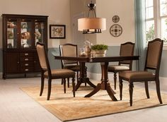 Refined yet relaxing, the Bay City 5-piece dining set delivers elegance that's fit for a formal gathering.