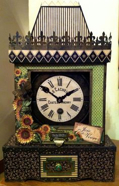 This project will blow you away! Clare used various collections to make this amazing altered clock. Click to see all the pictures! #graphic45