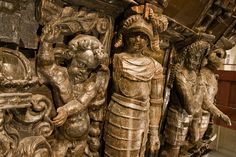 Wooden sculptures on the Vasa that survived 387 years submerged of the coast of Sweden.