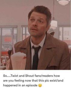 Supernatural Actors, Castiel, Sherlock Meme, Trail Of Tears, Twist And Shout, Cockles, Geek Crafts, Coping Mechanisms, Misha Collins