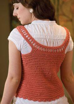 Free Crochet Vest Top Pattern : 1000+ images about crochet vest patterns on Pinterest ...