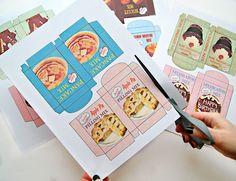 Etiquetas imprimibles para cajas de comida