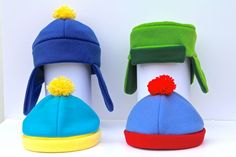 Set Of Four Pack South Park Style Hats Costume by indiesommer2, $79.99