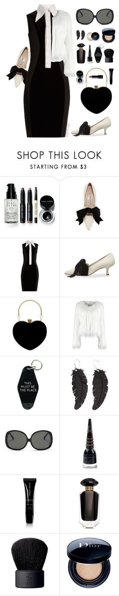 """Posh"" by ultracake ❤ liked on Polyvore featuring Bobbi Brown Cosmetics, Manolo Blahnik, Givenchy, Three Potato Four, Linda Farrow, Manic Panic NYC, Giorgio Armani, Victoria's Secret, NARS Cosmetics and Christian Dior"