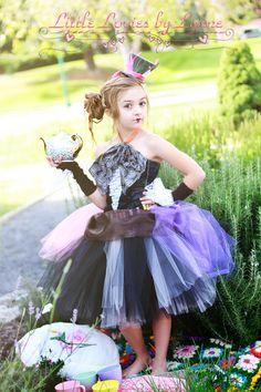Mad Hatter Costume - Party Dress - Pageant Costume - Wonderland Costume - Custom Costume - Girls Halloween Costume by LoviesbyLynne on Etsy https://www.etsy.com/listing/279622436/mad-hatter-costume-party-dress-pageant