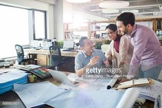 Stock Photo : Architects talking in the office