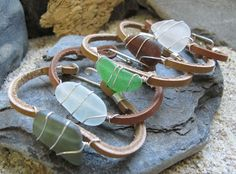 """NearTheWillows is a proud sponsor of """"Marlie and Me"""" for the Fall Fashionista Giveaway Event Oct 11-17. Win this Genuine Sea Glass, and Leather Bracelet (26.00). Get the details here: http://www.marlieandme.com/2012/09/the-fall-fashionista-giveaway-event-is.html"""