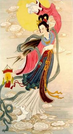 Chang'e, Chinese Moon Goddess (Tang Dynasty) A better picture of what she looked…