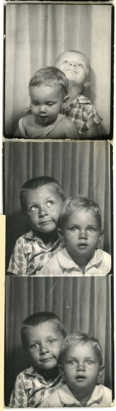 Kevin and Kirk. #vintage #photobooth #1960s