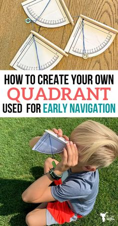 Make your own QUADRANT USED FOR EARLY NAVIGATION! Learn how early explorers used this tool and how it is used! Such a fun activity as you discover how early explorers navigated the unknown History Activities, Science Activities For Kids, Science Experiments Kids, Stem Activities, Science Projects, Teaching History, Early Explorers, Explorers Unit, Stem For Kids