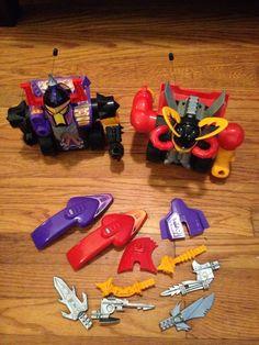 "2 8"" Radio Controlled Milton Bradley Power Gladiators Robots 1993 | eBay"