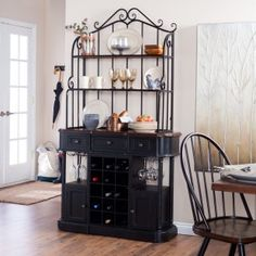 Dining Room On Pinterest Bakers Rack Silver Furniture And Glass Canisters