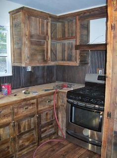 Diy rustic cabinets kitchen cabinets kitchen cabinets best barn wood cabinets ideas on rustic cabinets kitchen . Barn Wood Cabinets, Rustic Kitchen Cabinets, Rustic Kitchen Design, Farmhouse Kitchen Decor, Kitchen Redo, Country Kitchen, Kitchen Ideas, Western Kitchen, Pallet Cabinet