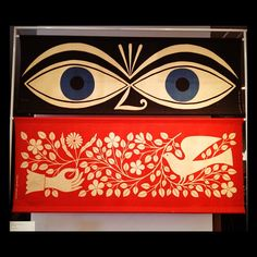 alexander Girard - love the eyes ! Alexander Girard, Vitra Design Museum, Retro Illustration, Dragon Art, Graphic Design Inspiration, Art World, Amazing Art, Illustrators, Herman Miller