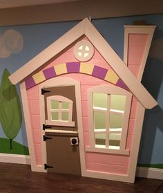 For the secret room UNDER the stairs! Imagine THAT! Playhouses