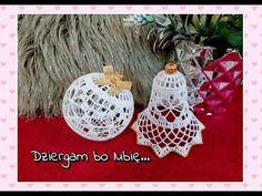 Christmas Candy, Christmas Bulbs, Christmas Crafts, Christmas Decorations, Holiday Decor, Crochet Ball, Thread Crochet, Crochet Stitches, Xmas Baubles
