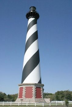 Cape Hatteras Light, North Carolina, United States – Located on Hatteras Island in the Outer Banks, this lighthouse was first built in 1802. The current 210 feet (64 m) high lighthouse was built in 1950  and is tallest brick lighthouse in the United States. It is still activated today