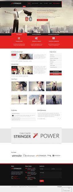 Stringer - Responsive WordPress Theme - Corporate WordPress #wordpress #theme #website #template #responsive #design #webdesign #flat #flatdesign